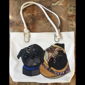 Handmade Pug Handbag, NEW